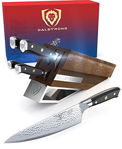 DALSTRONG Knife Set Block - Shogun Series X Knife Set - AUS-10V High-Carbon Japanese Super Steel - 5 pieces