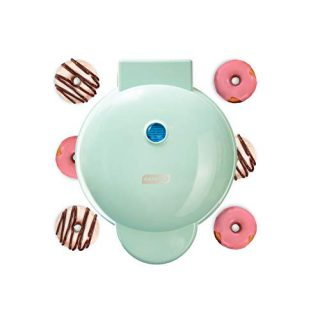 Dash DDM007 Mini Donut Maker Machine for Kid-Friendly Breakfast, Snacks, Desserts & More with Non-stick Surface, Makes 7 Doughnuts, Aqua