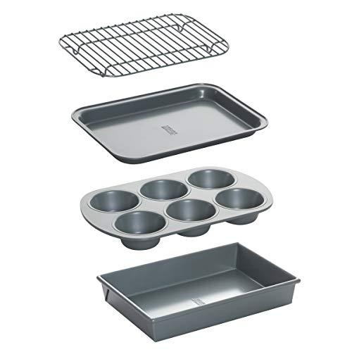 Metallic Non-Stick Toaster Oven Bakeware Set