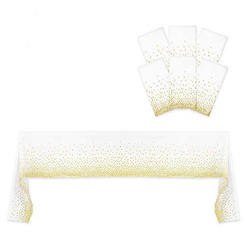 Resonating Designs Gold Dot Confetti Tablecloth