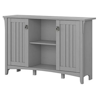 Bush Furniture Accent Storage Cabinet with Doors, Cape Cod Gray