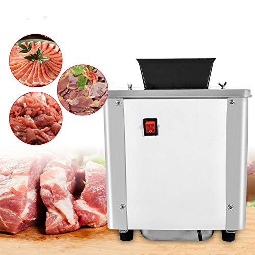 Commercial Meat Cutting Machine Desktop Electric Meat Slicing Shredding Cutting Machine Meat Cutter Slicer 550W 3.5mm Stainless Steel Blade Meat Shred Machine (US STOCK)
