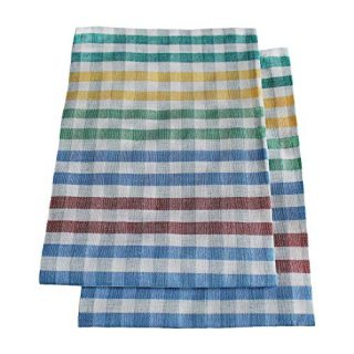 "Set of 2 Kitchen Towels | 40% Linen 60% Cotton | Colorful Soft Natural Absorbent Towels | 18""x22"""
