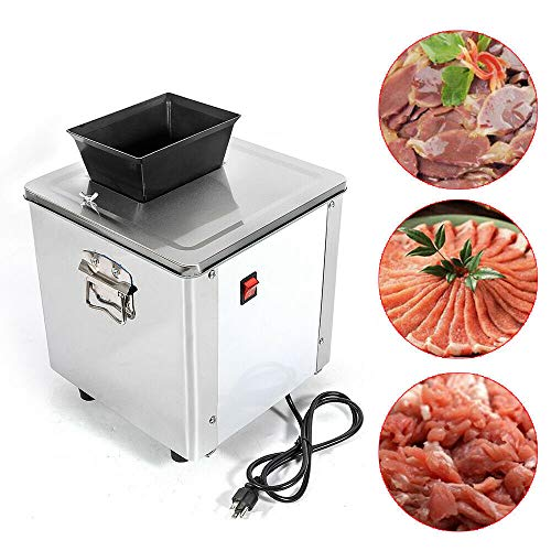 DONNGYZ Commercial Electric Meat Slicing Shredding Cutting Machine Meat Cutter Slicer Kitchen 3.5MM Meat Shred Machine 550W (US Stock)