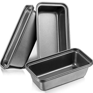 4 Pieces Mini Loaf Pans Toast Pans Mini Brownie Cake Bake Molds Nonstick Perforated Mini Brownie Cake Baking Pan for Baking Bread Use