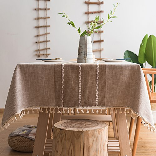 Stitching Tassel Tablecloth Heavy Weight Cotton