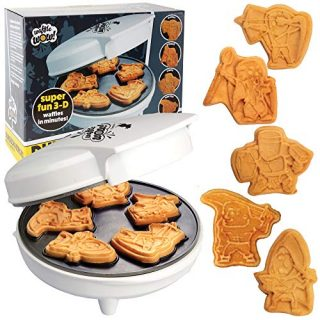 CucinaPro DND Fantasy Mini Waffle Maker- Eat Your Favorite Characters and Make Breakfast Fun - Cool Novelty Dungeons & Dragons-Like Pancakes in Minutes -Electric Non-Stick Waffler