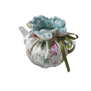 Cheng Yi Modern Design 100% Cotton Printed Tea Cosy,Creative Kitchen Tea Pot Dust Cover,Tea Cosy Breakfast Warmer,Kettle Cover,Insulation and Keep Warm,CYFC1382 (White)