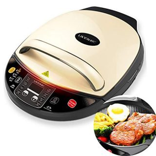 Liven Electric Skillet Baking Pan LR-D3020A, Digital Display, 3 Heating Levels,Non-stick Baking Pan with Detachatable Down Plate, 1400W,30CM