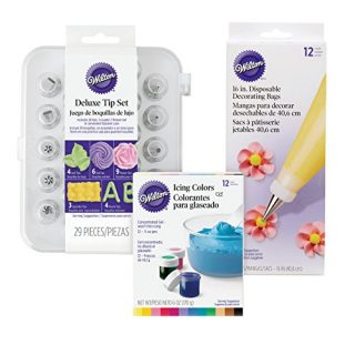 Wilton Deluxe Cake Decorating Tip Set, 52-Piece