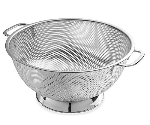 Bellemain Micro-perforated Stainless Steel Colander-Dishwasher Safe (5-Quart)