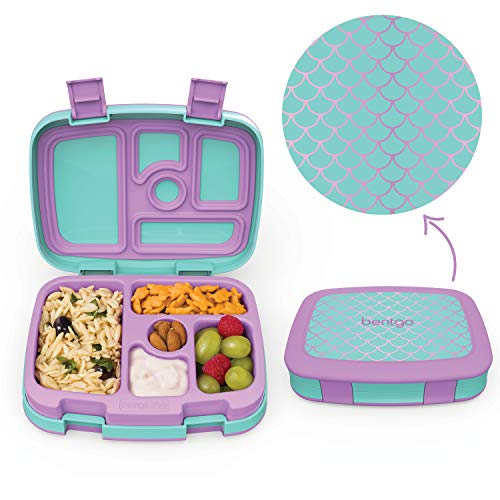 Leak-Proof, 5-Compartment Bento-Style Kids Lunch Box