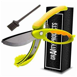 Toss and Chop Salad Tongs, Salad Chopper, Heavy Duty Kitchen Salad Scissors, Multifunction Double Blade Salad Cutting Tool