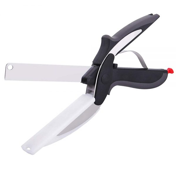 Topmat Kitchen Stainless Steel Food Scissors,Kitchen Scissors with Cutting Board,Kitchen Scissor Food Chopper Scissor