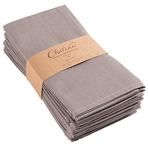 Home Chateau Easy-Care Cloth Dinner Napkins