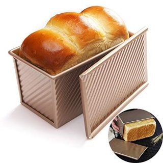 Loaf Pan with Lid Non-Stick Bakeware Carbon Steel Bread Toast Mold with Cover for Baking Bread