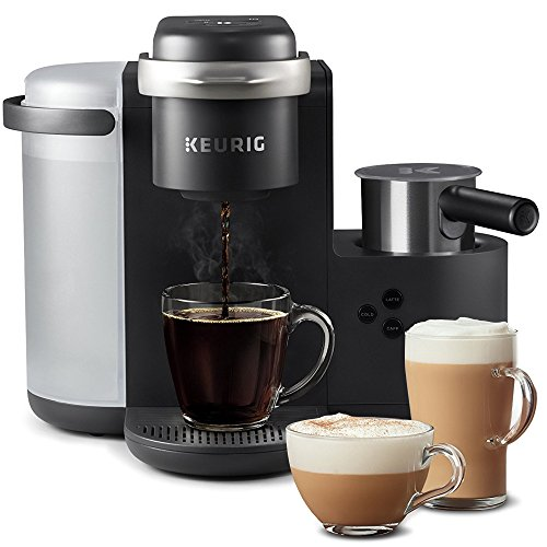 Keurig K-Cafe Coffee Maker, Single Serve K-Cup Pod Coffee, Latte and Cappuccino Maker, Comes with Dishwasher Safe Milk Frother, Coffee Shot Capability, Compatible With all K-Cup Pods, Charcoal