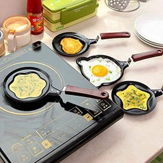 VARWANEO Handheld Mini Pattern Frying Egg Tool Frying Pan Kitchen Non-stick Pancake Mold Tool Barbecue Pan