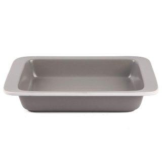 Porcelain Baking Dish, 14x9.5inch Rectangular Casserole Dish 2.43 Quart Ceramic Roaster Pan for Cooking Kitchen Cake Dinner Banquet (Light Grey)