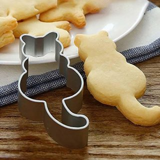 ☀ Dergo ☀ Cookie Cutter Cat Shaped Aluminium Mold Sugarcraft Pastry Baking Cutter Mould