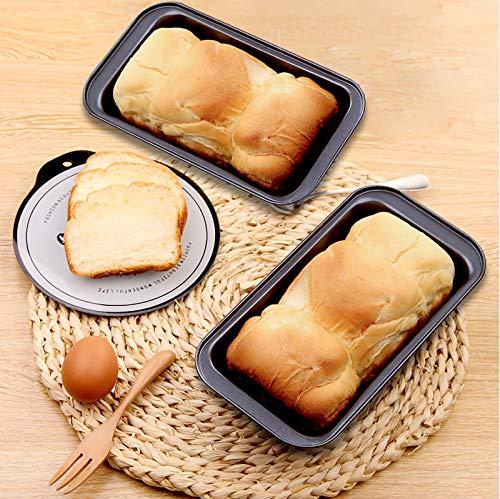 MANO Set of 2 Loaf pan for Baking Bread 9x5 Inch Long Toast Mold Nonstick Meatloaf pans Bakeware set