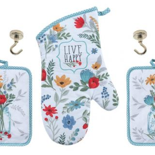 Blooming Thoughts Floral Kitchen Linen Set