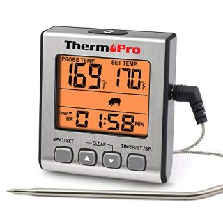Digital Meat Thermometer Smoker Cand