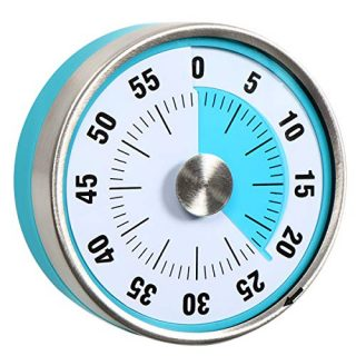 """3"""" Magnetic Kitchen Timer Visual Analog 60 Minute Countdown"""
