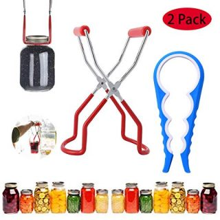 CarlCard Canning Jar Lifter Tongs, Stainless Steel Jar Lifter with Grip Handle for Home Kitchen, can be used with virtually all canning jars