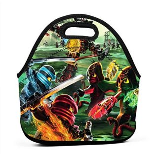 Masters Of Spinjitzu Hands Of Time Poster Insulated Lunch Bag Tote for Adult/Kids, Reusable Soft Neoprene Personalized Lunchbox Handbag for Work/School/Picnic