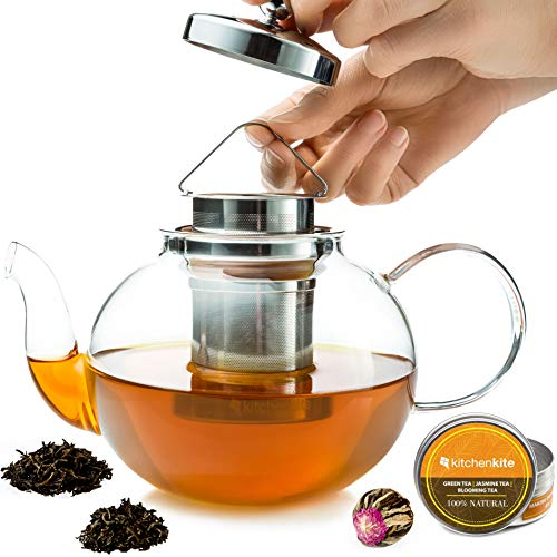 Stovetop Teapot with Removable Stainless Steel Strainer