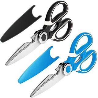 2-Pack Ultra Sharp Premium Heavy Duty Kitchen Shears and Multi Purpose Scissors