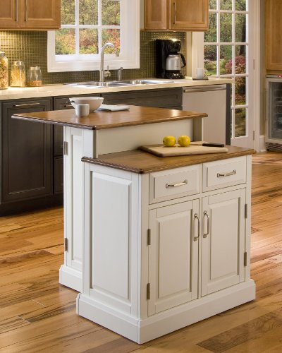 Woodbridge White Kitchen Island by Home Styles