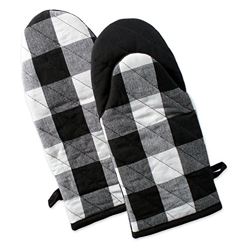 Buffalo Check Plaid Oven Mitts, Heat Resistant