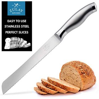 Bread Knife 8 inch - Ultra-Sharp & Durable Blade For Easy Slicing