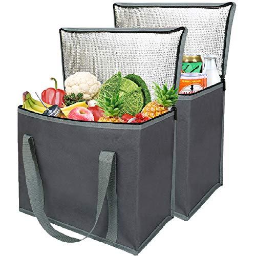 Large Picnic Cooler Bag Zipper Zippered Top Cold