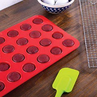 Mrs. Anderson's Baking 43631 24-Cup Mini Muffin Pan, Non-Stick European-Grade Silicone