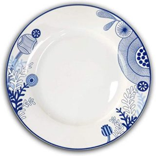 Dinner Plates - 10.5 Inch Kitchen Dinnerware Set of 6 - Microwave & Dishwasher Safe