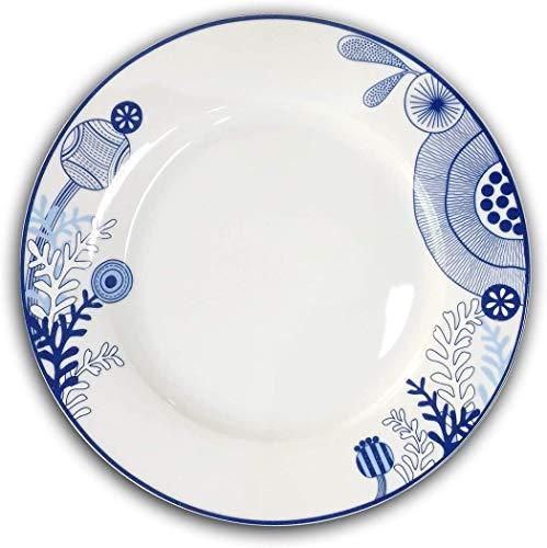 Dinner Plates - 10.5 Inch Kitchen Dinnerware Set of 6 - Microwave & Dishwasher Safe