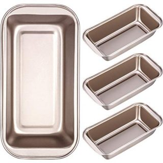 4 Pieces Loaf Pan Non-stick Bread Baking Pan Carbon Steel Mold, Cake Tin Toast Box for Oven Baking, 10 x 5 Inch