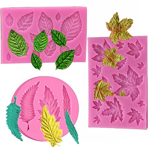 Leaf shape food grade resin gum, leaf gum mold, chocolate, gum, resin, polymer clay, soap, cake decoration decoration, muffin decoration jelly baking tools