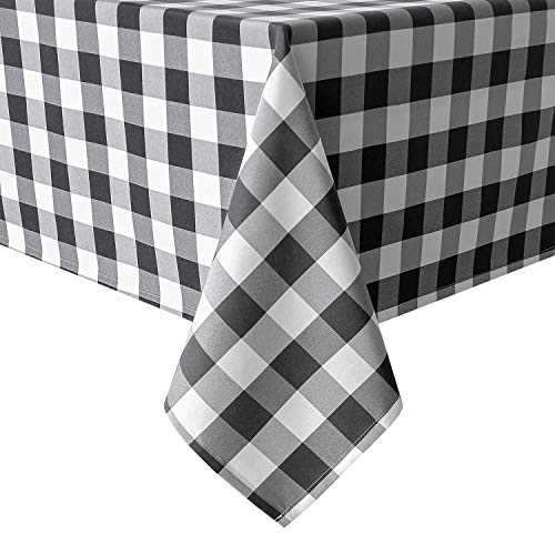Hiasan 60 x 120 Inch Checkered Tablecloth Rectangle