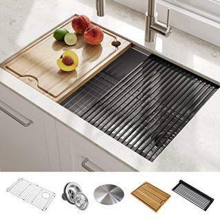 "Kraus KWU110-27 Kore Kitchen Single Bowl, 27 Inch, 27""- Workstation Sink"