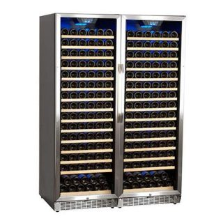 Bottle Built-In Side-by-Side Wine Cellar Stainless Steel