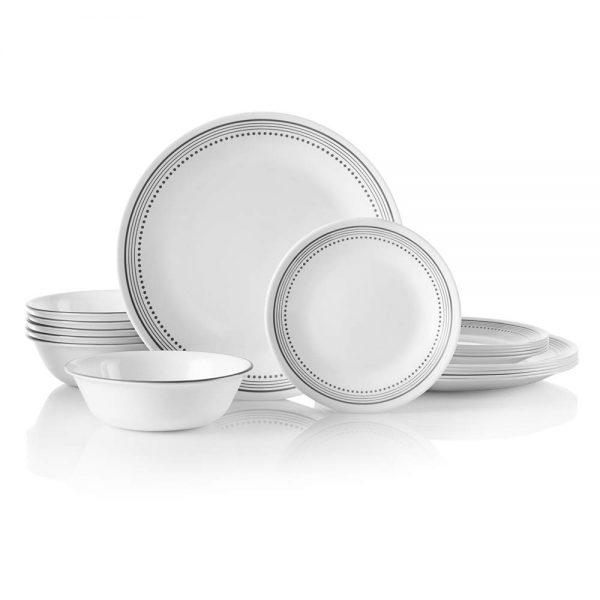 Chip Resistant, Mystic Gray Dinnerware Set
