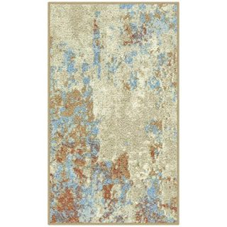 Maples Rugs Southwestern Stone Distressed Abstract Kitchen Rugs Non Skid Accent Area Floor Mat [Made in USA], 1'8 x 2'10, Multi