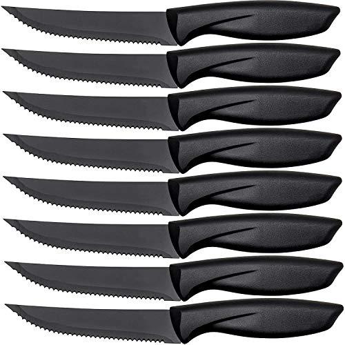 Lux Decor Kitchen Steak Knives Set of 8 - Dinner Knife Set - Kitchen Knives - Steak Knife Set - Stainless Steel Serrated Knife - Chef Knife Set