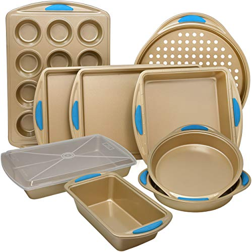 10-Piece Nonstick Carbon Steel Bakeware Set with Baking Pans,