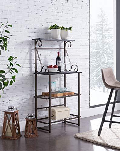 Kings Brand Furniture - Covington Metal Kitchen Baker's Rack, Pewter