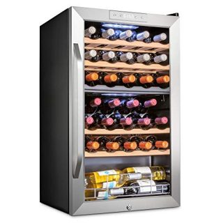 33 Bottle Dual Zone Wine Cooler Refrigerator